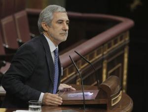 Gaspar Llamazares en el pleno de hoy.