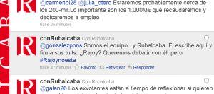 Tuit de @conRubalcaba aceptando el debate propuesto por gonzalezpons.