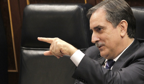 El ministro de Trabajo, Valeriano Gómez.