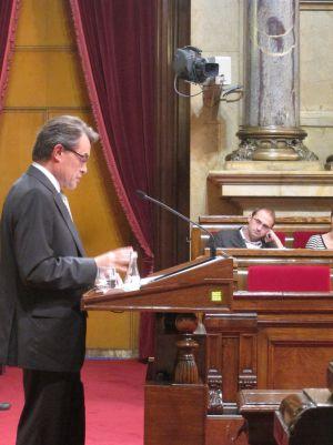El presidente Artur Mas en el debate de política general.