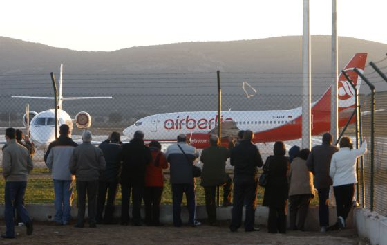 Primer vuelo del aeropuerto Don Quijote de Ciudad Real con destino a Barcelona, el 19 de diciembre de 2008.