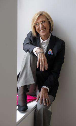 Rosa Díez, en la sede de UPyD de Madrid.
