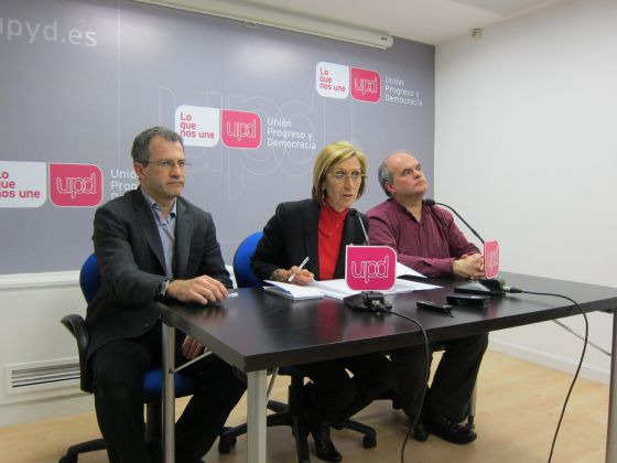 Rosa Díez, Carlos Martínez Gorriarán y Álvaro Anchuelo, diputados de UPyD.