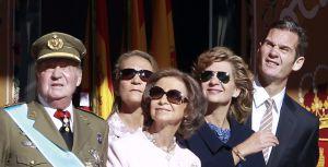 El desfile de la Fiesta Nacional fue el último acto de Urdangarin con la familia real.