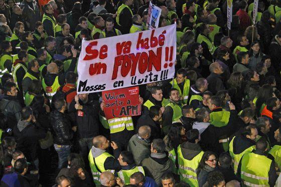 Manifestación de funcionarios en Barcelona el día 29.