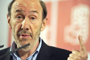 El candidato a la secretaría general del PSOE, Alfredo Pérez Rubalcaba.