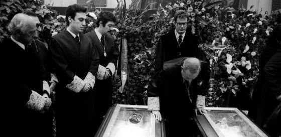 Funeral por los abogados laboralistas asesinados en la calle Atocha de Madrid.