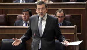 Rajoy, durante su réplica a Rubalcaba.