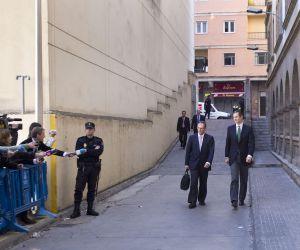 Urdangarin y su abogado llegan a los juzgados de Palma.