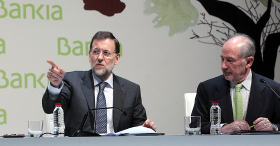 Mariano Rajoy y Rodrigo Rato, en el Encuentro Financiero Intenacional Bankia  EL PAÍS 2012.