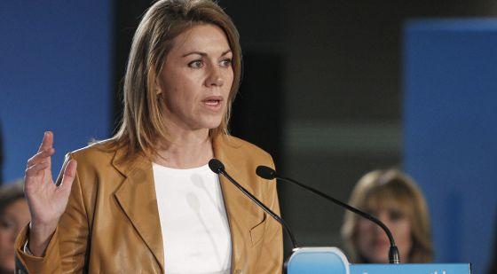La presidenta de la Comunidad de Castilla-La Mancha y secretaria general del PP, María Dolores de Cospedal.