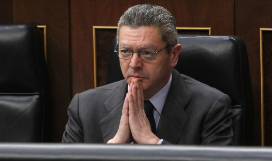 Alberto Ruiz-Gallardón, en un pleno del Congreso.