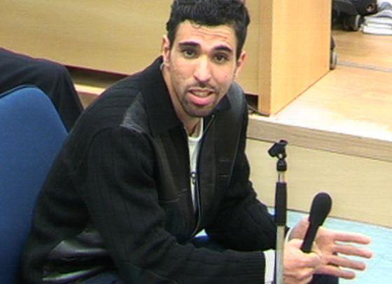 Jamal Zougam durante el juicio.