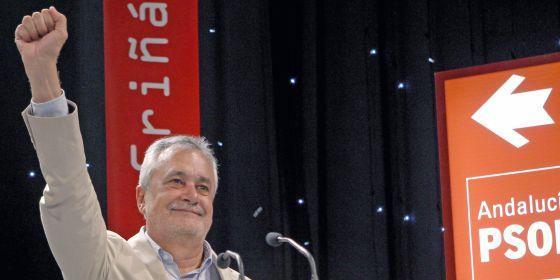 El presidente de Andalucía, José Antonio Griñán, en un mitin.