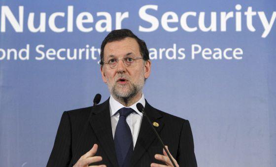 El presidente del Gobierno , Mariano Rajoy, ayer en Seúl.
