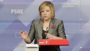 Elena Valenciano, durante la rueda de prensa de hoy.