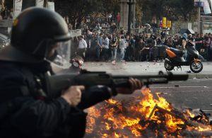 Altercados en Barcelona durante la huelga del 29-M.