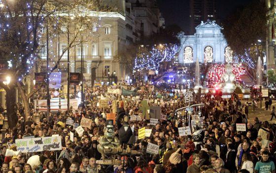 Manifestación del Movimiento 15-M en Madrid.
