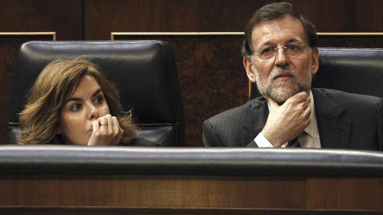 Mariano Rajoy en el Congreso de los Diputados el 24 de abril.