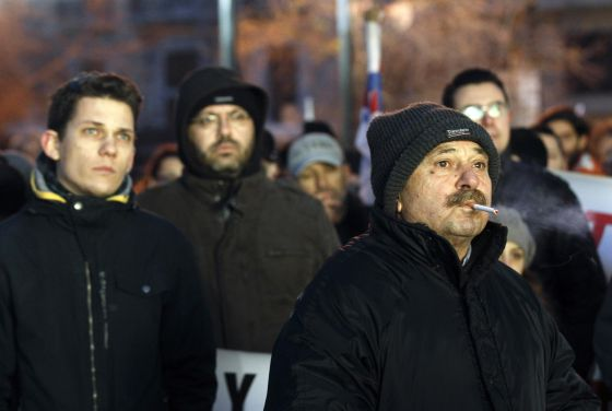 Manifestación de afiliados comunistas Atenas en febrero pasado.
