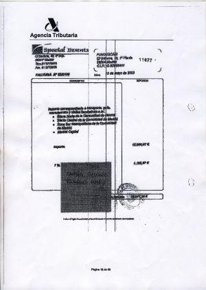 Documentos de Special Events que justificaron la campaña electoral de Madrid (18.000 euros).