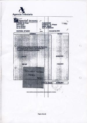 Documentos de Special Events para justificar los gastos de las elecciones generales (57.600 euros).