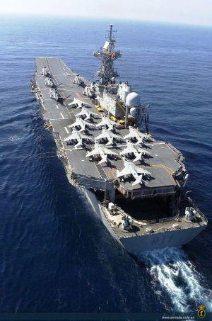 El portaaviones 'Príncipe de Asturias', en una imagen de la web del Ministerio de Defensa.rn