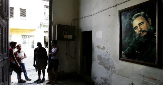 Vecinos de La Habana en febrero de 2008.