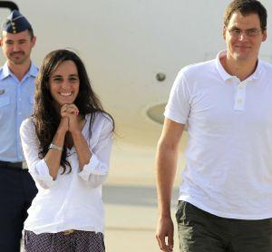 Ainhoa Fernández y Enric Gonyalons, a su llegada el jueves a Torrejón.