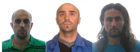 Los presuntos miembros de Al Qaeda detenidos en La Línea y Valdepeñas. En el centro, el ciudadano turco.