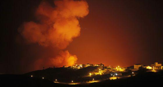Imagen del incendio en Valle Gran Rey.