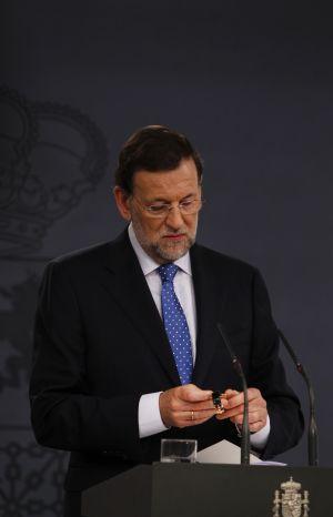 El presidente del Gobierno, Mariano Rajoy, en la rueda de prensa que ofreció el 3 de agosto.