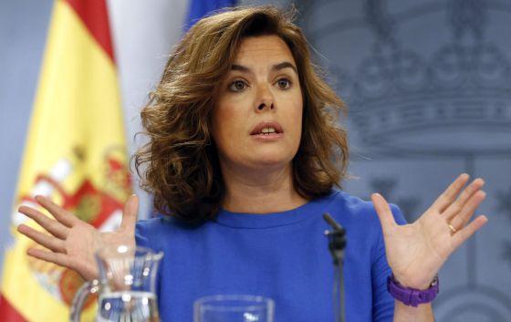 La vicepresidenta Soraya Sáenz de Santamaría fue la encargada de presentar la Ley de Transparencia.