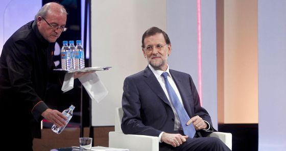 Rajoy, antes de la entrevista en TVE.