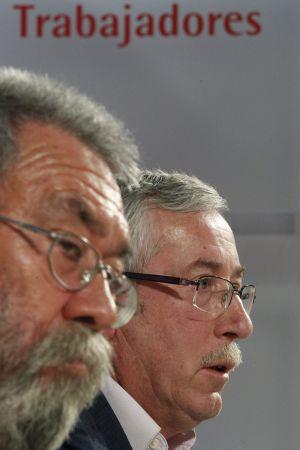 Cándido Méndez y Ignacio Fernández Toxo.