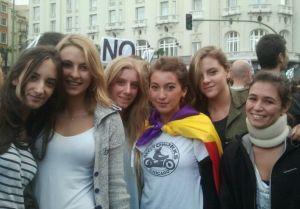 Un grupo de estudiantes del Liceo Italiano de Madrid.