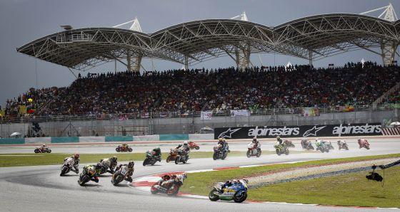 Las grabaciones a la red mafiosa china destaparon las gestiones para llevar el Mundial de Motociclismo a China aprovechando que, supuestamente, el jefe de la trama podía influir en el Gobierno chino. En la imagen, el GP de Malaisia del pasado domingo.