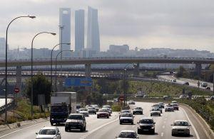 La A-1, sentido salida de Madrid, el miércoles, en el inicio del puente de Todos los Santos