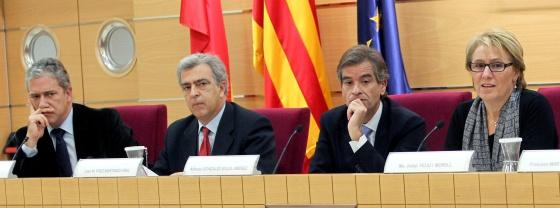 Pedro Viguer, José María Páez, Alfonso González-Guija y María Josep Feliu i Morell.