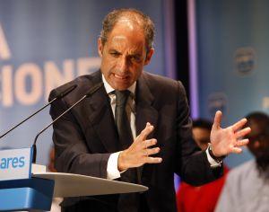 Francisco Camps, en un mitin en 2007.