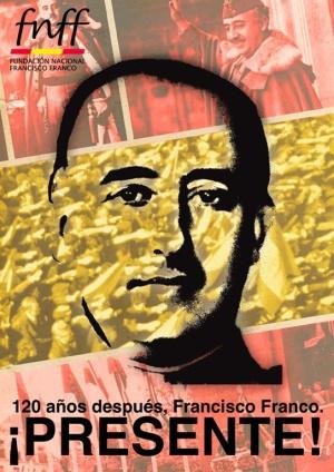 Cartel de la convocatoria del acto de homenaje a Franco el próximo 2 de diciembre.