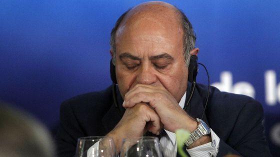 Gerardo Díaz Ferrán, en la conferencia el 10 de junio de 2010.