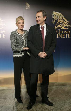 El expresidente José Luis Rodríguez Zapatero y su esposa, Sonsoles Espinosa, en un estreno el pasado miércoles.