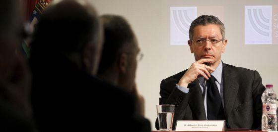 El ministro de Justicia, Alberto Ruiz-Gallardón, en un acto del 22 de noviembre en Madrid.
