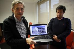 Antonio Gimeno, a la izquierda, junto al presidente de la fundación que ha creado, Carlos García.
