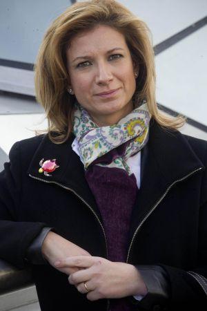 Loreto Dolz, hermana de la víctima del conductor suicida, el jueves, en Madrid.