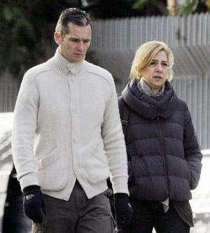 Los Duques de Palma en Vitoria en 30 de diciembre de 2012.