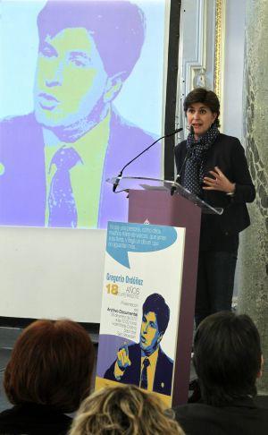 María San Gil en la presentación del archivo Ordóñez.