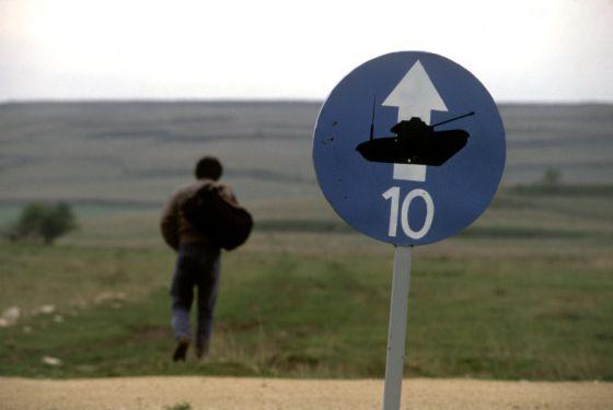 Campo de tiro de la base militar de Castrillo del Val (Burgos)