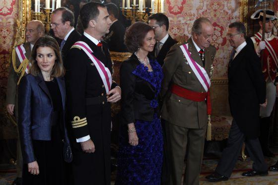 Una imagen de la Pascual militar de 2012, en el Palacio Real.